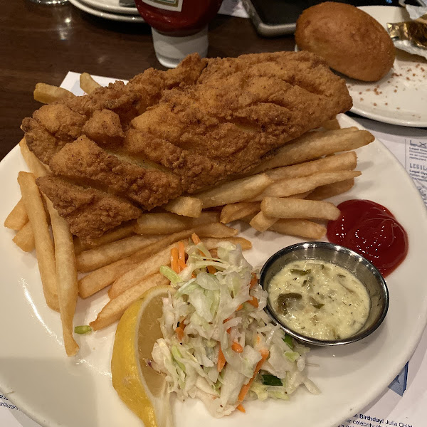 GF Fried Haddock! Very good and they know their stuff when I comes to GF.
