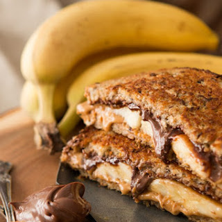 Grilled Peanut Butter Nutella and Banana Sammy
