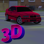 3D Sports Car Driving In City