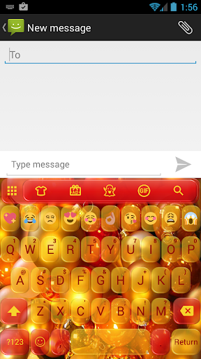 Christmas Balls Emoji Keyboard
