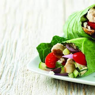 Mediterranean Chicken Lettuce Wraps.