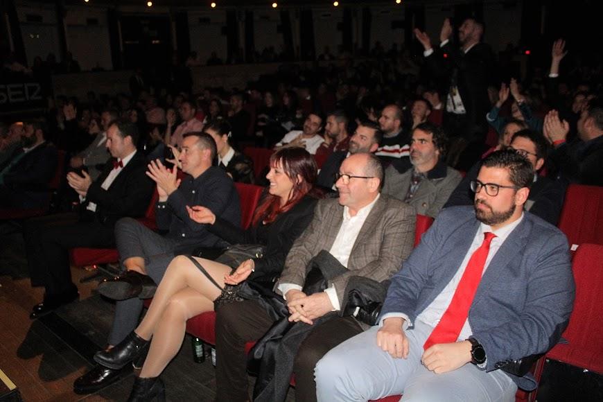 Asistentes a la gala de los Premios de la Noche Almeriense.