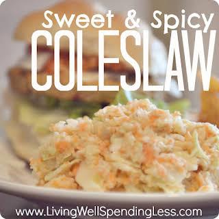 Sweet & Spicy Coleslaw.