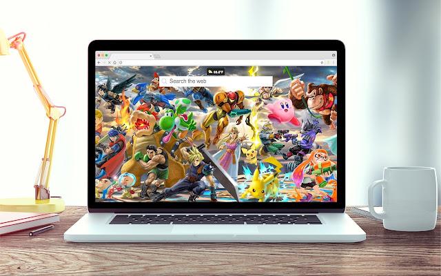 Super Smash Bros New Tab Theme