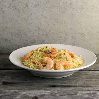 One Pot Garlic Shrimp and Pasta.