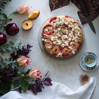 Almond And Plum Cake.