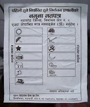 Photo: Wahlzettel der Wahlen...