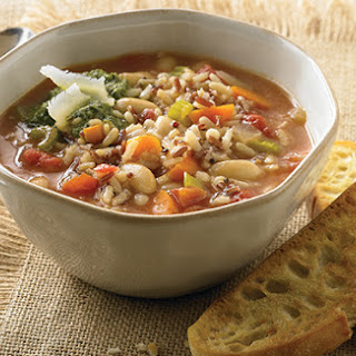 Tuscan Wild Rice and Vegetable Soup.