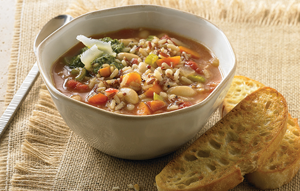 Tuscan Wild Rice and Vegetable Soup Recipe
