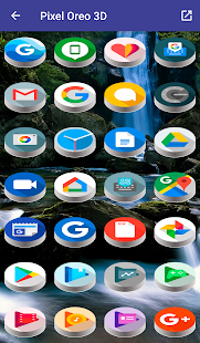 Pixel Oreo 3D - Icon Pack Screenshot
