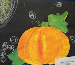 Photo: Pumpkins in moonlight Grade 1