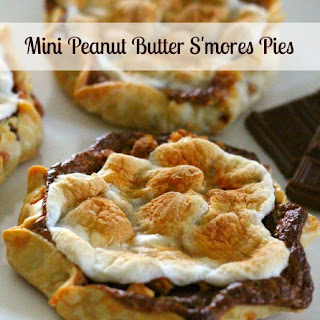 Mini Peanut Butter S'mores Pies.