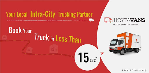 Book a Truck anywhere in the city within minutes.