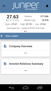 Juniper Networks Investor App- screenshot thumbnail