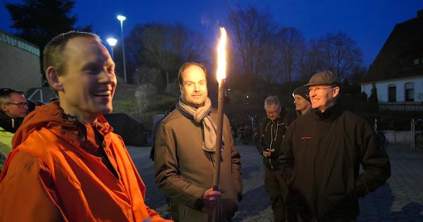 Dekanatsnachtwanderung der Männer - Gründonnerstag 29.03.2018 - St. Martinus Hagen + Gellenbeck Maria Himmelfahrt