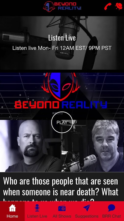 Beyond Reality Radio- screenshot