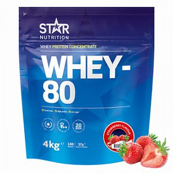 Star Nutrition Whey 80 4kg - Strawberry