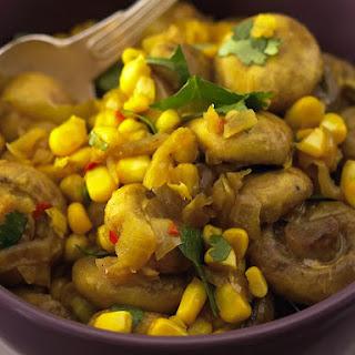 Turmeric Mushrooms and Corn.