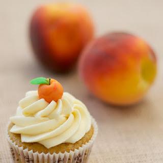 Peach Bourbon Cupcakes.