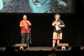 Photo: What we did at night - w00tstock; authors John Scalzi and Patrick Rothfuss