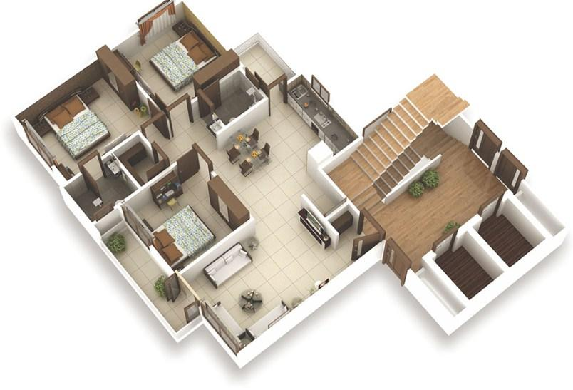 big house plan 3d screenshot