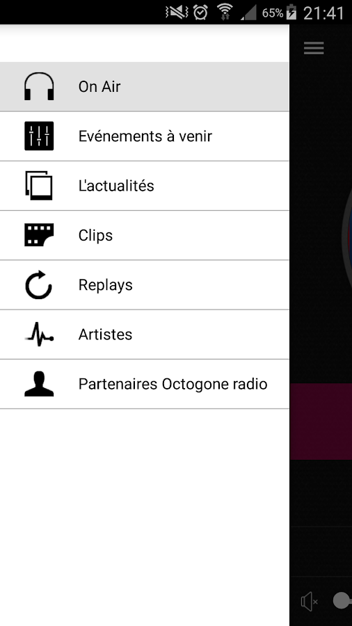 Octogone radio (officiel)- screenshot