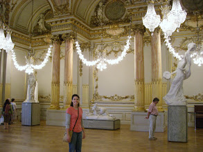Photo: Teresa in the Bling room at the Musée d'Orsay