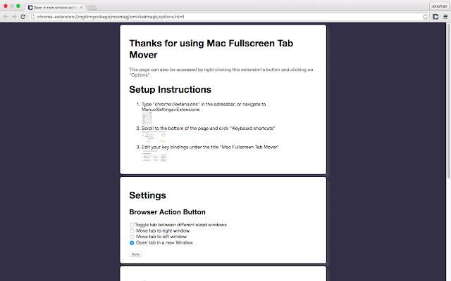 Mac Fullscreen Tab Mover