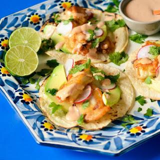 Baja Style Fish Tacos.
