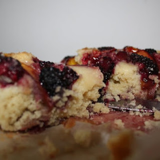 Nectarine And Blackberry Cake