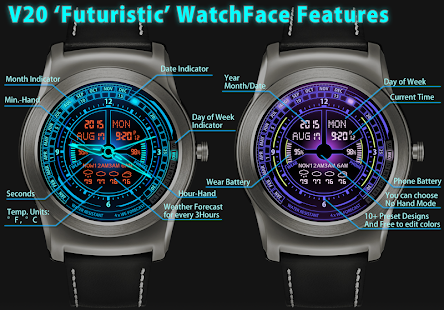 V20 WatchFace For Android Wear- screenshot thumbnail