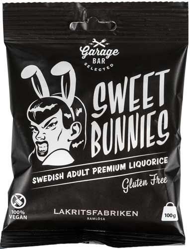 Sweet bunnies Garage bar - sötlakrits - Lakritsfabriken i Ramlösa