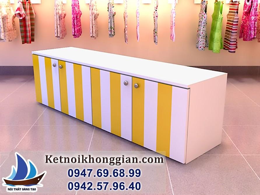 thiết kế cửa hàng quần áo trẻ em diện tích nhỏ