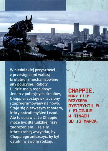 Tył ulotki filmu 'Chappie'