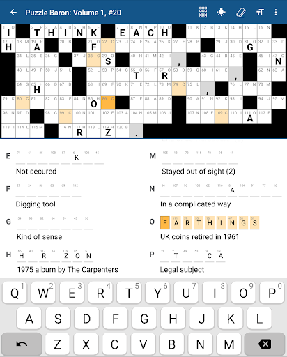 Acrostics Crossword Puzzles game (apk) free download for Android/PC/Windows screenshot