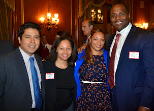 Photo: Carlos Lopez (Assistant United States Attorney), MBLA President Doreen Rachal (Assistant United States Attorney), Angela Gomes (Skadden, Arps, Slate, Meagher & Flom), and Dominic Blue (MassMutual).