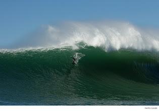 "Photo: Grant ""Twiggy"" Baker, Mavericks. Photo: Glaser #surferphotos"