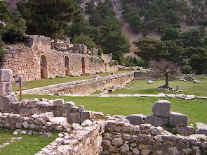 Photo: Arykanda Upper Agora and Bath .......... Feitelijke agora en Thermen