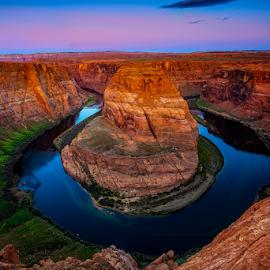Horseshoe Bend by Tim Harding - Landscapes Caves & Formations ( canon, nature, page, arizona, sunrise, landscape, rocks, river )