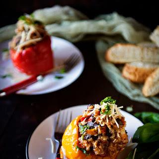 Slow Cooker Italian Stuffed Peppers.