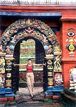 Photo: Katmandu - brama Królewskiej Świątyni Taleju / The gate of Taleju temple