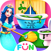 Princess Home Cleaning – House Clean Games icon