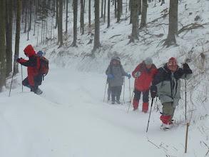 Photo: Wie heute der Schnee bergauf 'fällt', ...