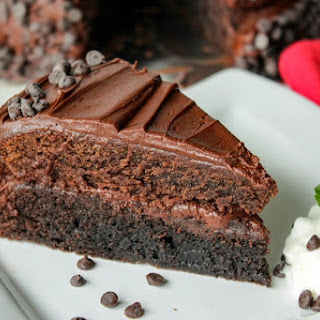 Dark & Milk Chocolate Brownie Layer Cake Recipe