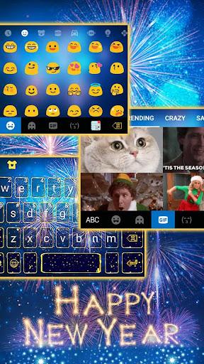 New Year Firework 2020 Keyboard Theme screenshots 1