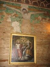Photo: Kościół w Grębieniu. Malowidło ścienne i obraz Świętej Trójcy