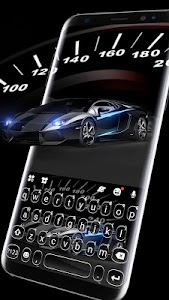 Luxury Black Car Keyboard Theme 1.0