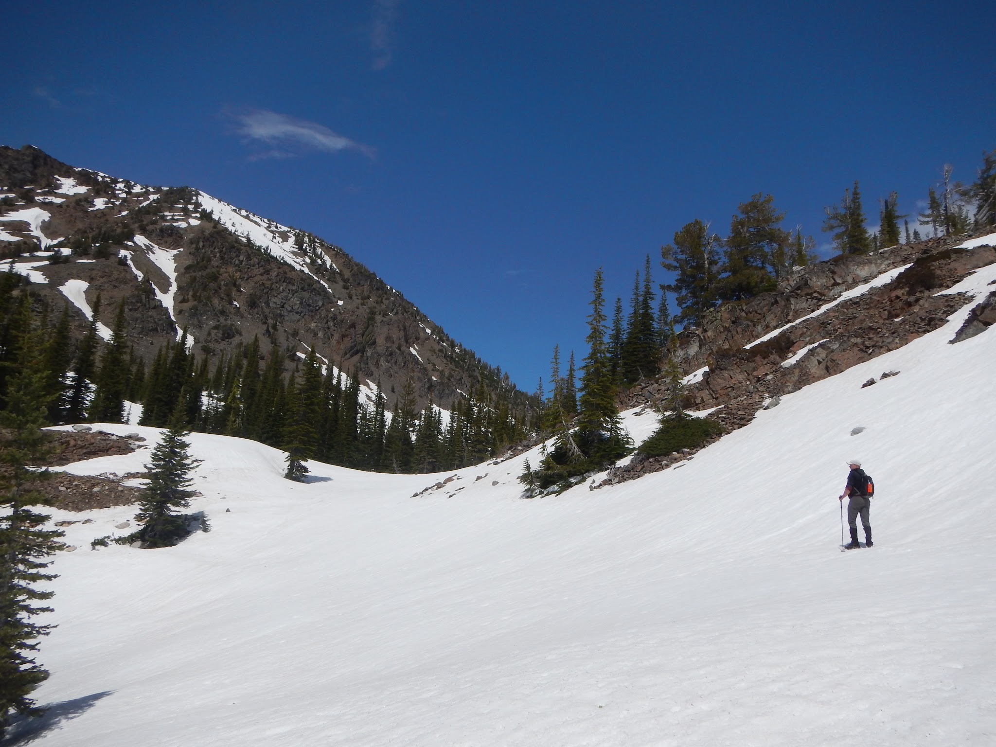 Photo: Aaron crosses the first big snowfield