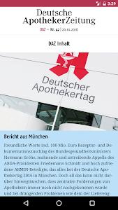 Deutsche Apotheker Zeitung screenshot 2