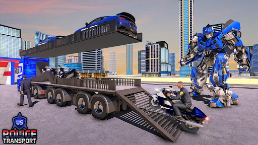 NOUS Police Transformed Robot - Police Avion  captures d'u00e9cran 11